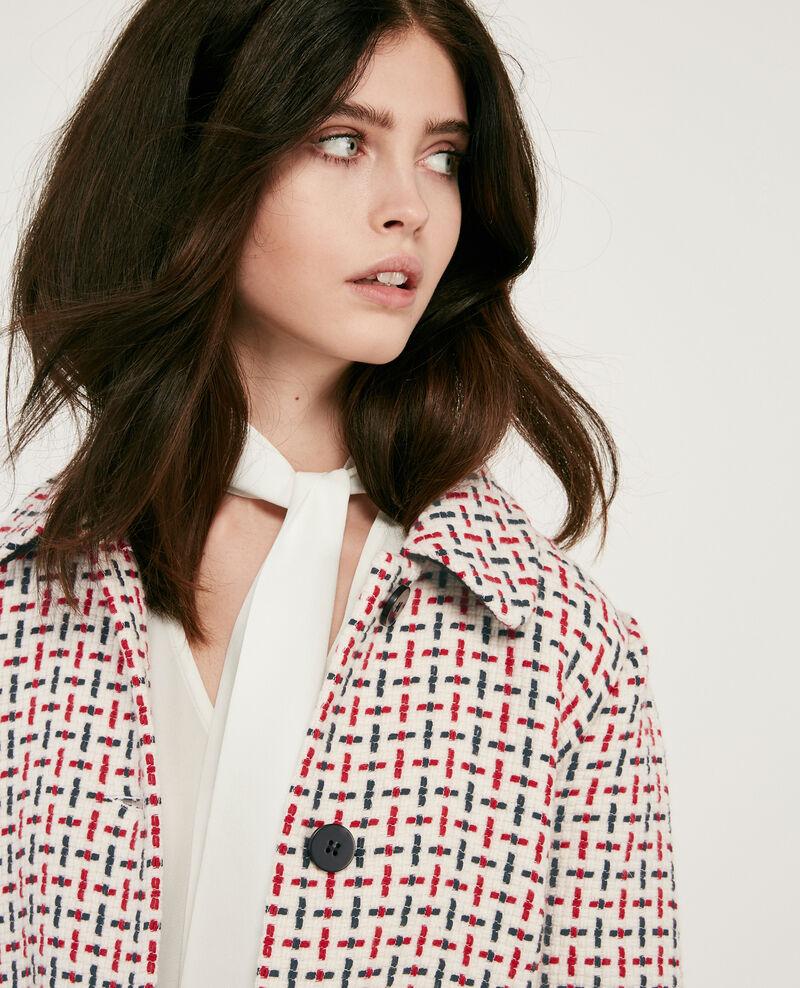 Manteau en tweed avec laine Off white Diarritz