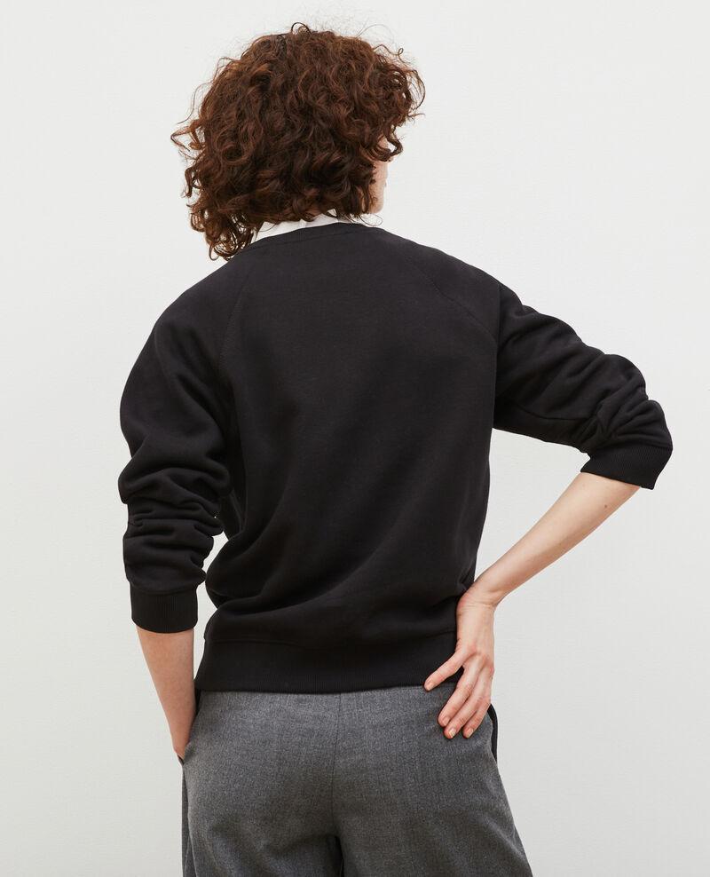 Sweatshirt en molleton Black beauty Madeleina