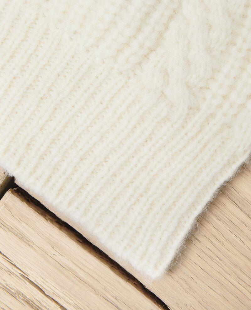 Bonnet en maille torsadée Off white Jibonnet