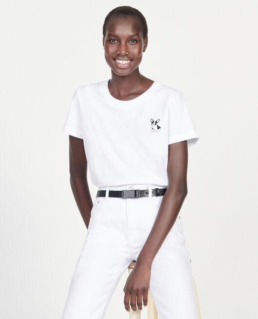 T-shirt en coton Léon OPTICAL WHITE