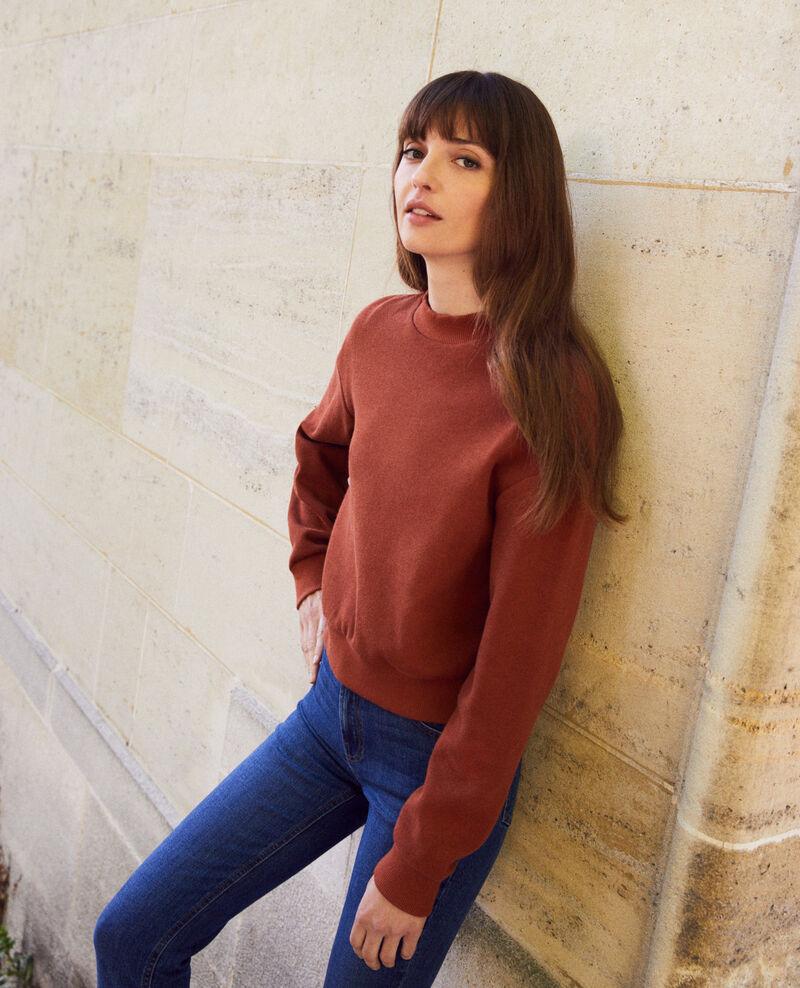 Sweatshirt court Brandy brown Jizela