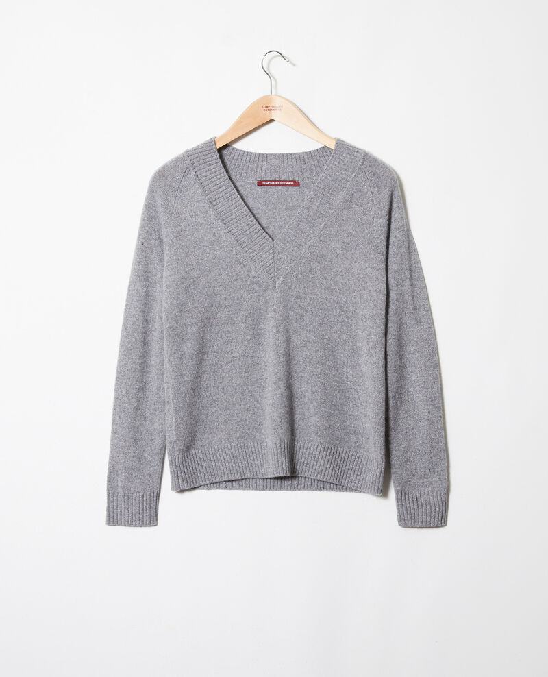 Pull 100% cachemire Light grey Jaye