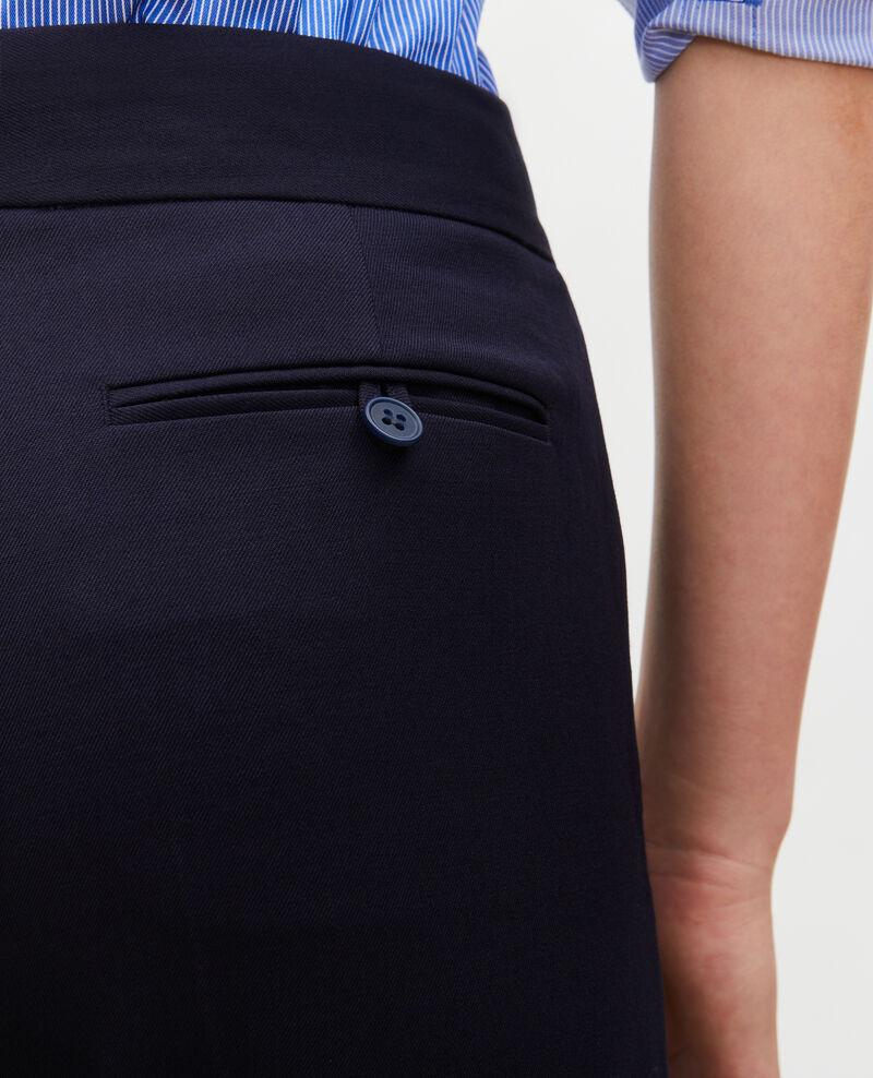 Pantalon MARCELLE, masculin, droit en laine  Night sky Misabelle