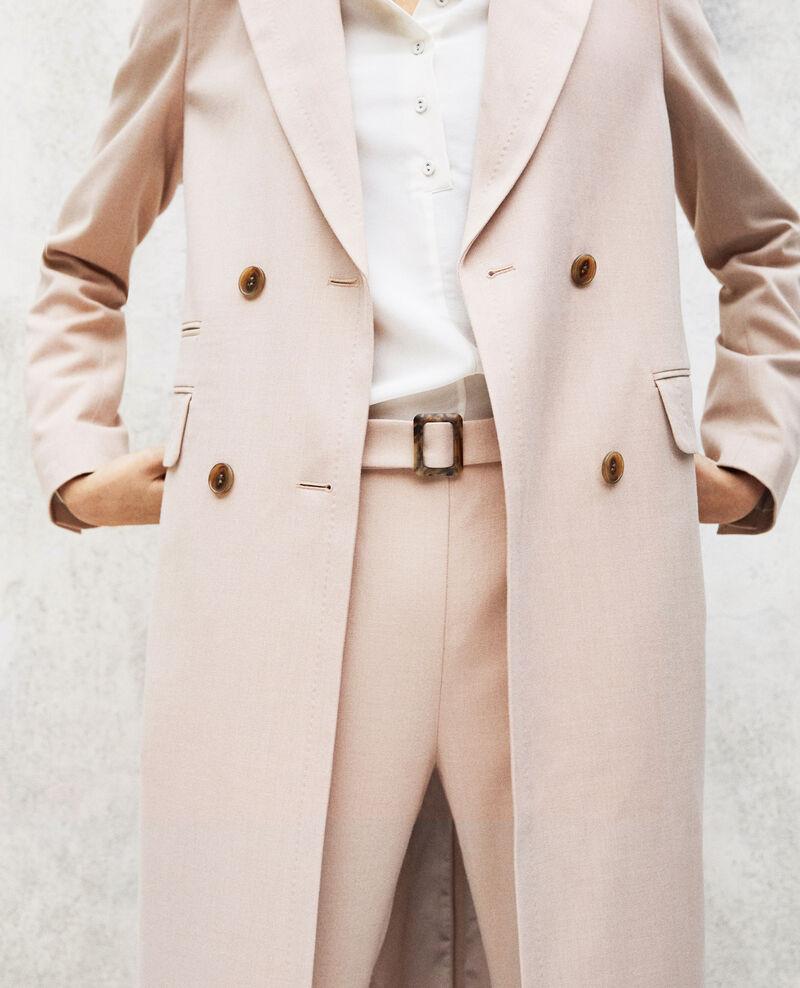 Manteau léger long Pink beige Illinois