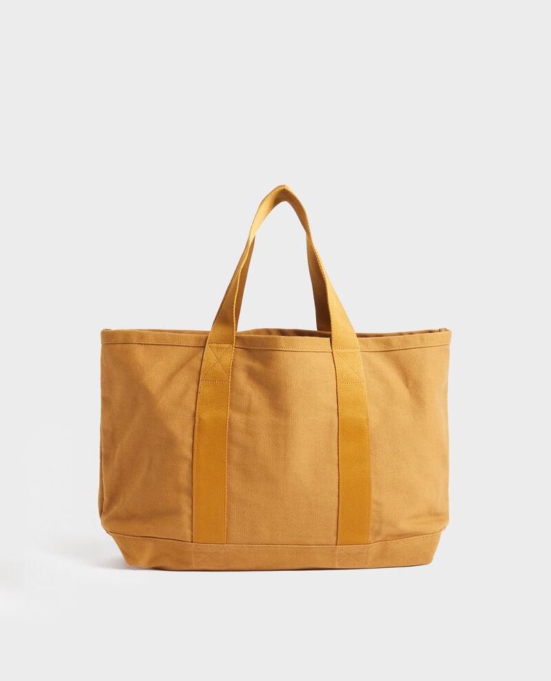 Tote bag en coton Bronze brown Naive