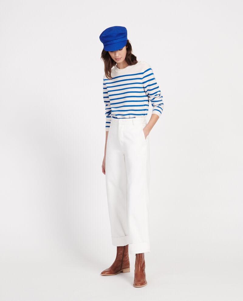 Pantalon de peintre Optical white Laora