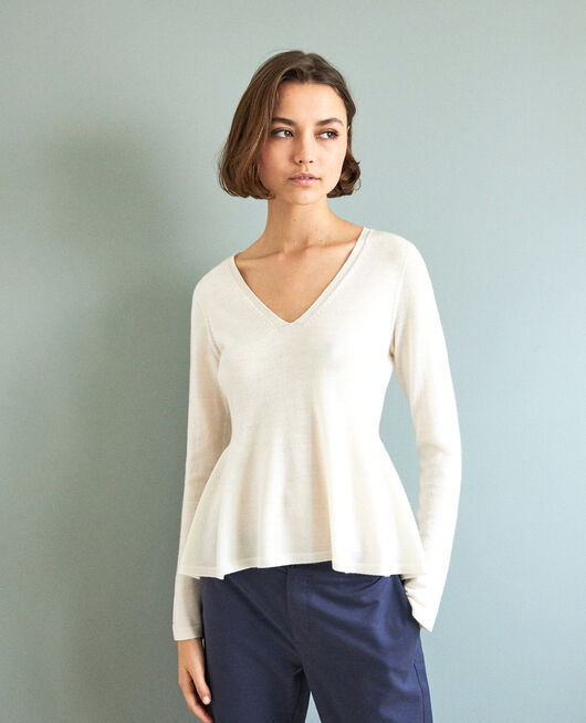 Pull en laine 3D OFF WHITE