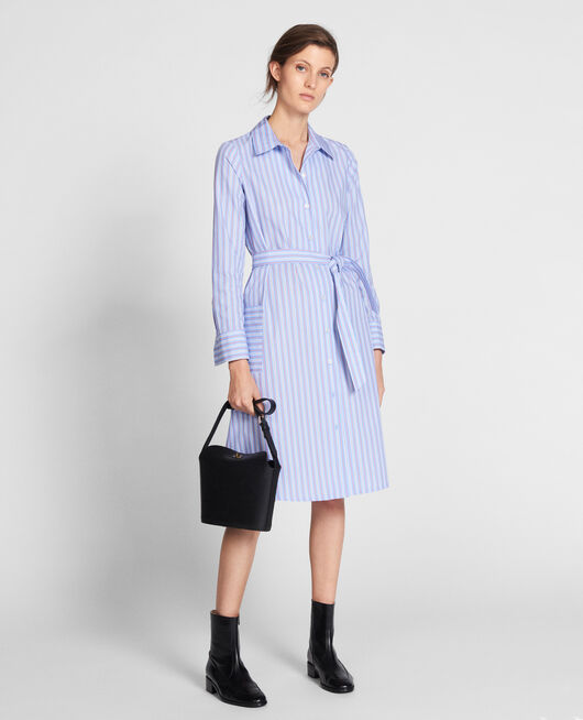 Robe-chemise en popeline POPELINE STRIPES