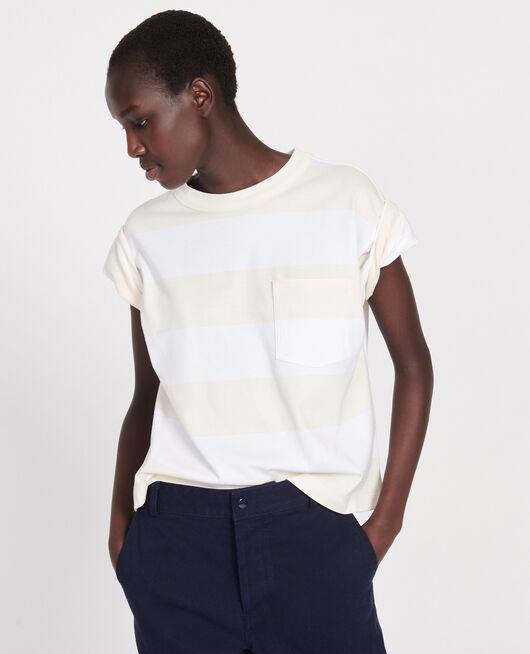 T-shirt large en coton STR OPTICALWHITE BUTTER