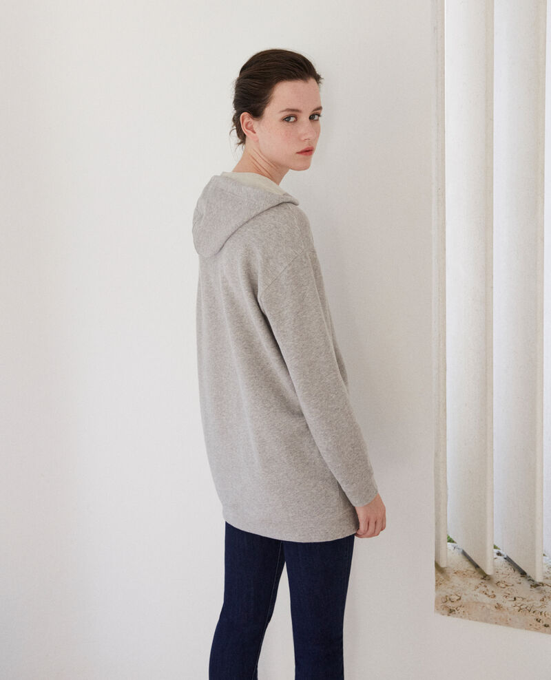 Sweatshirt à capuche Léon Chine grey/peacoat Guetto
