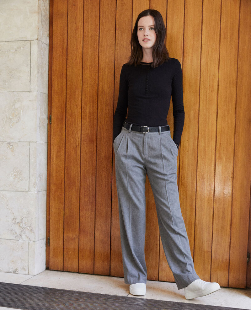 Pantalon coupe ample Medium grey Gorgono