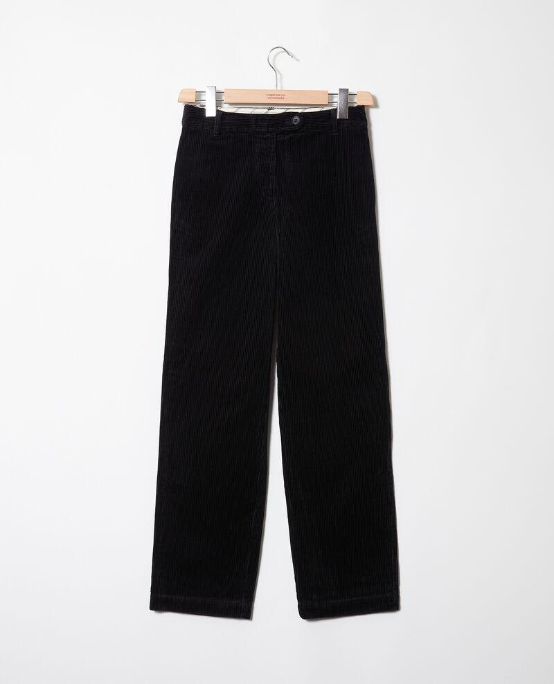 Pantalon en velours côtelé Noir Jose