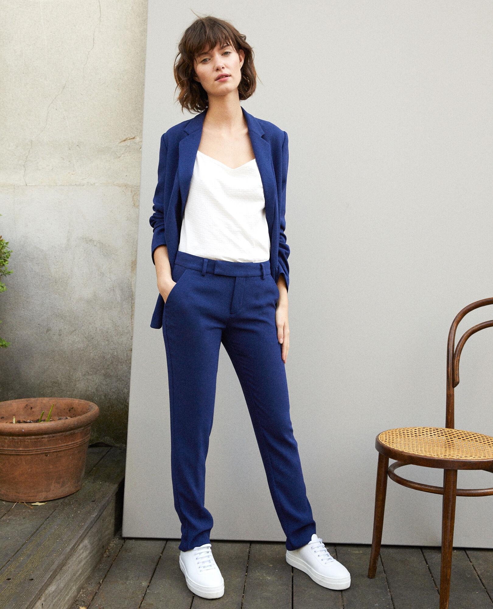 Gersende Medieval Pantalon Femme Comptoir Blue Couleur Tailleur xwUX61
