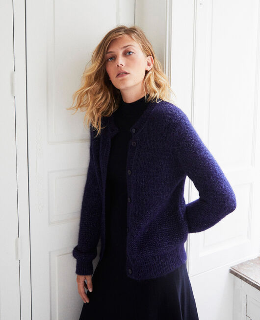 Cardigan avec fils de lurex brillants EVENING BLUE