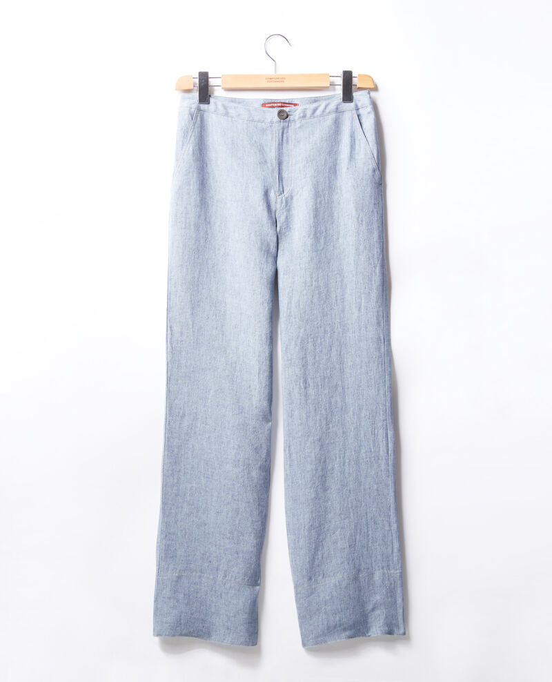 Pantalon en lin coupe ample Azur Facteur