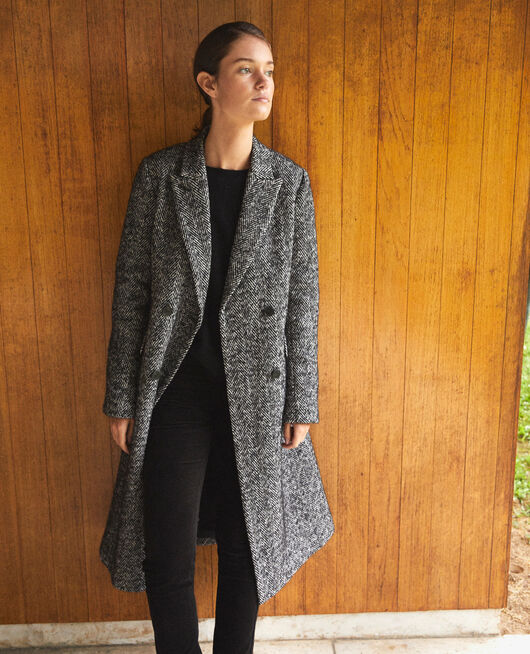 Manteau intemporel tailoring NOIR/BLANC
