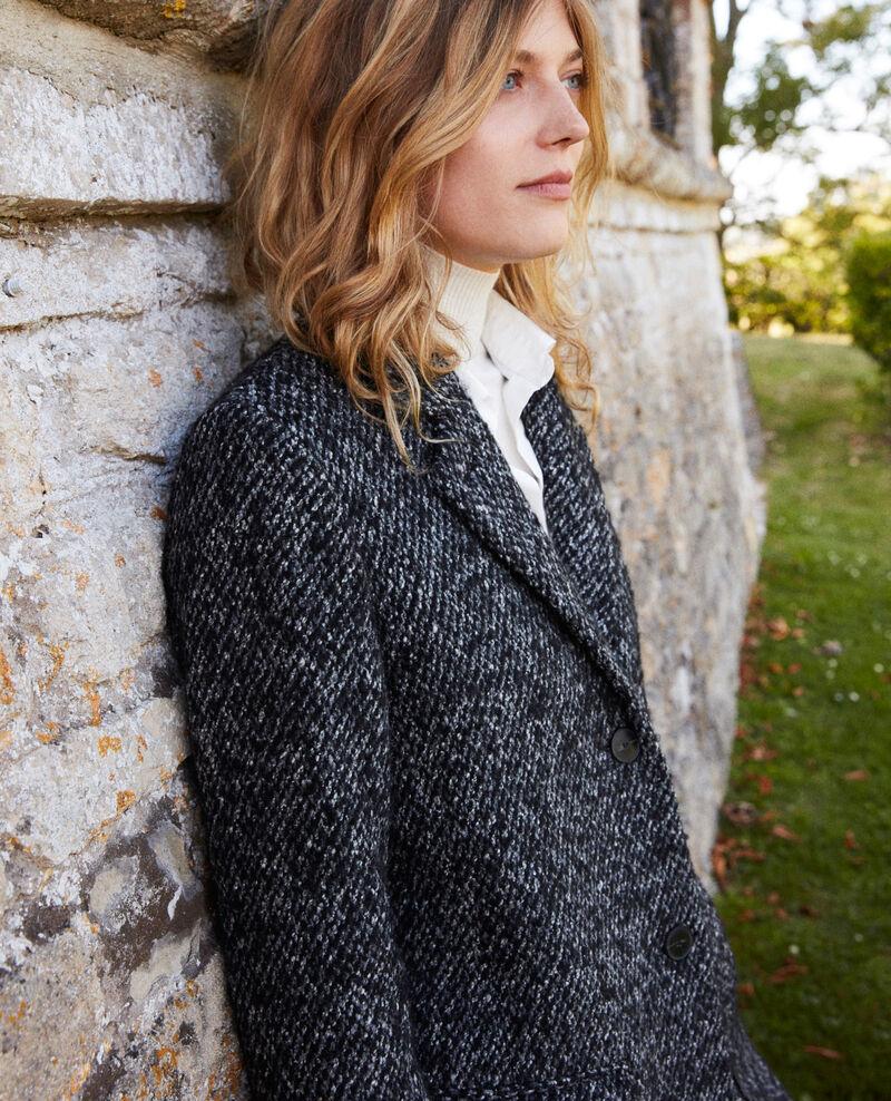 Manteau en tweed Grey melange Judit
