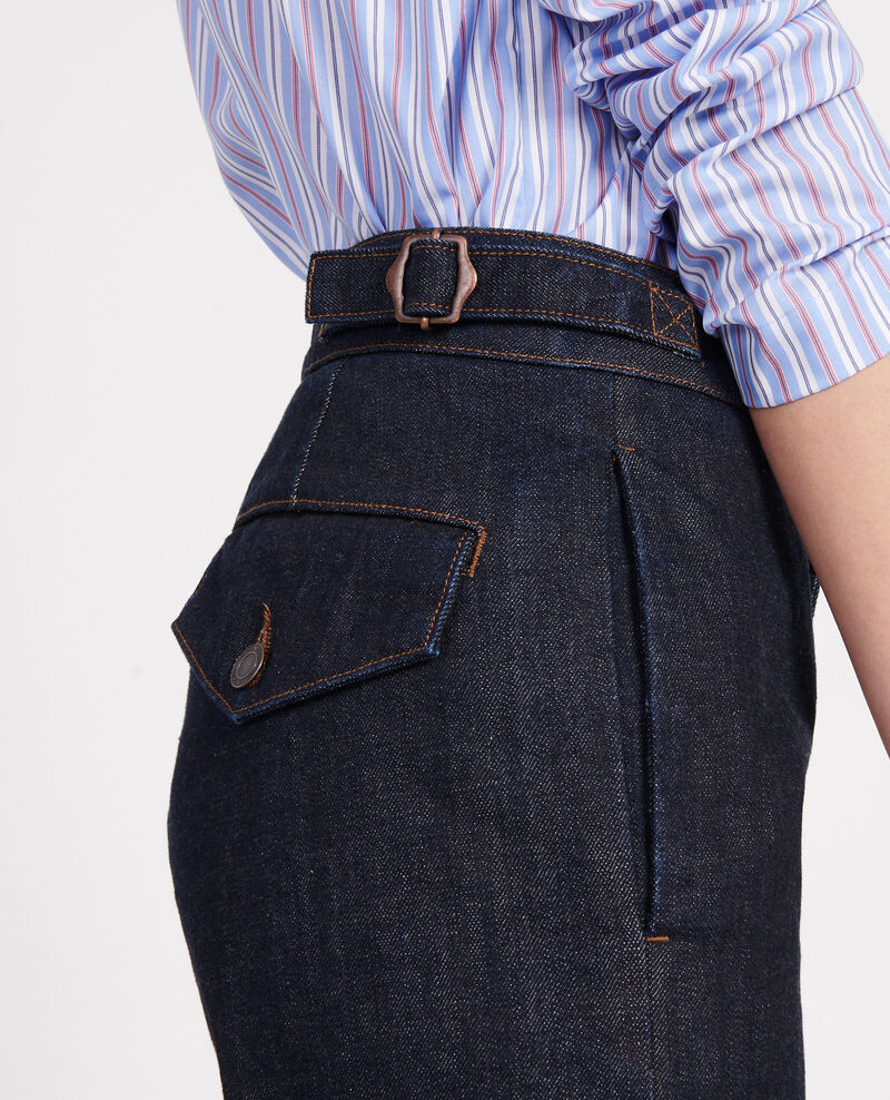 Jean wide leg Denim rinse Libbie