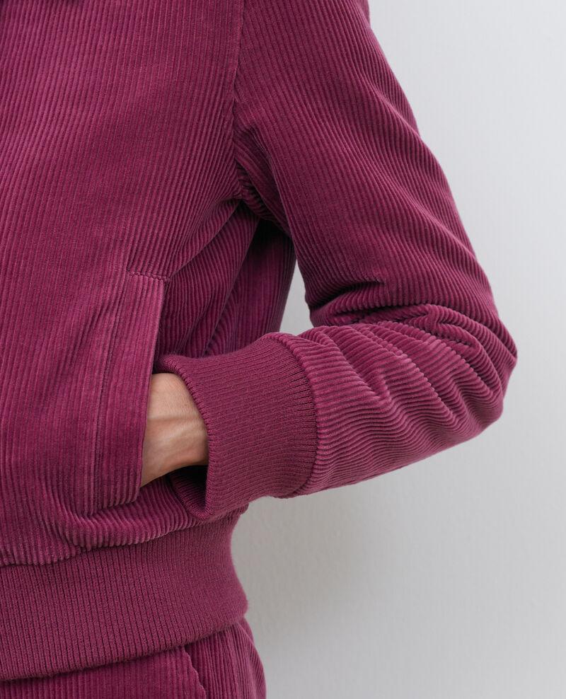 Blouson zippé en velours côtelé Damson Piettry