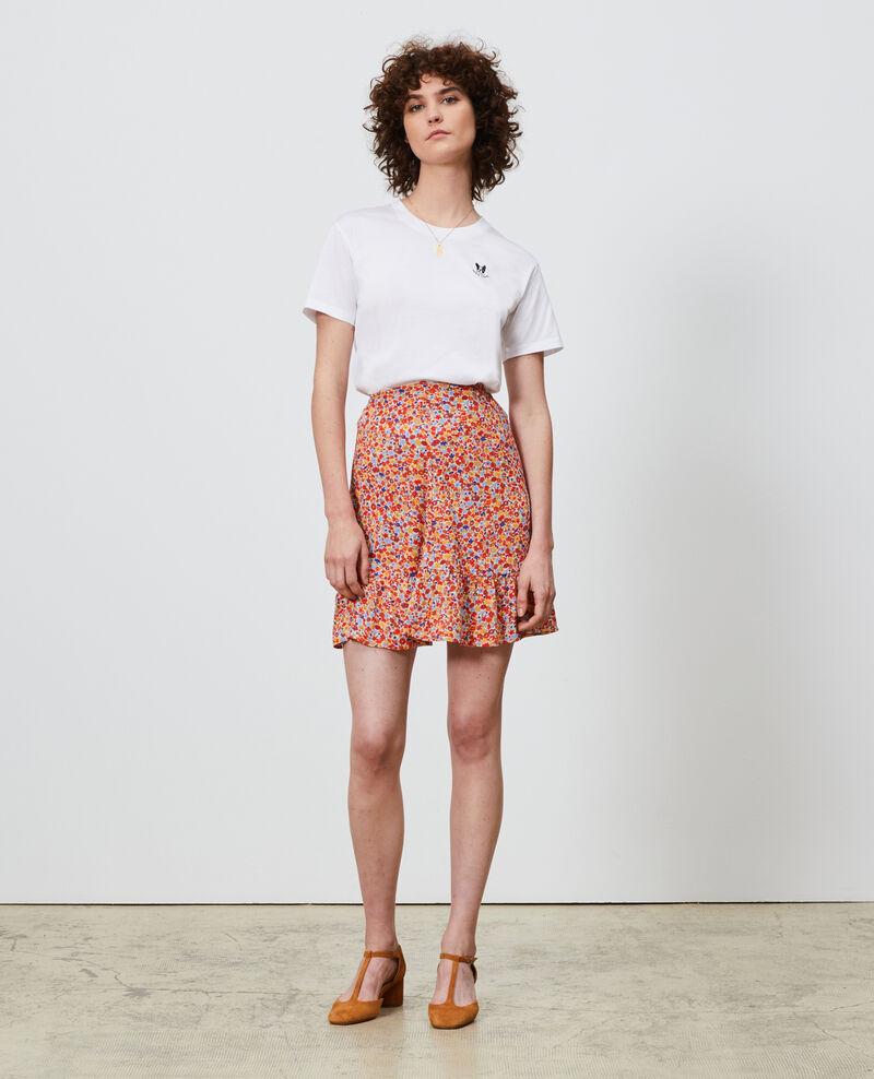 T-shirt brodé en coton Optical white Nagano
