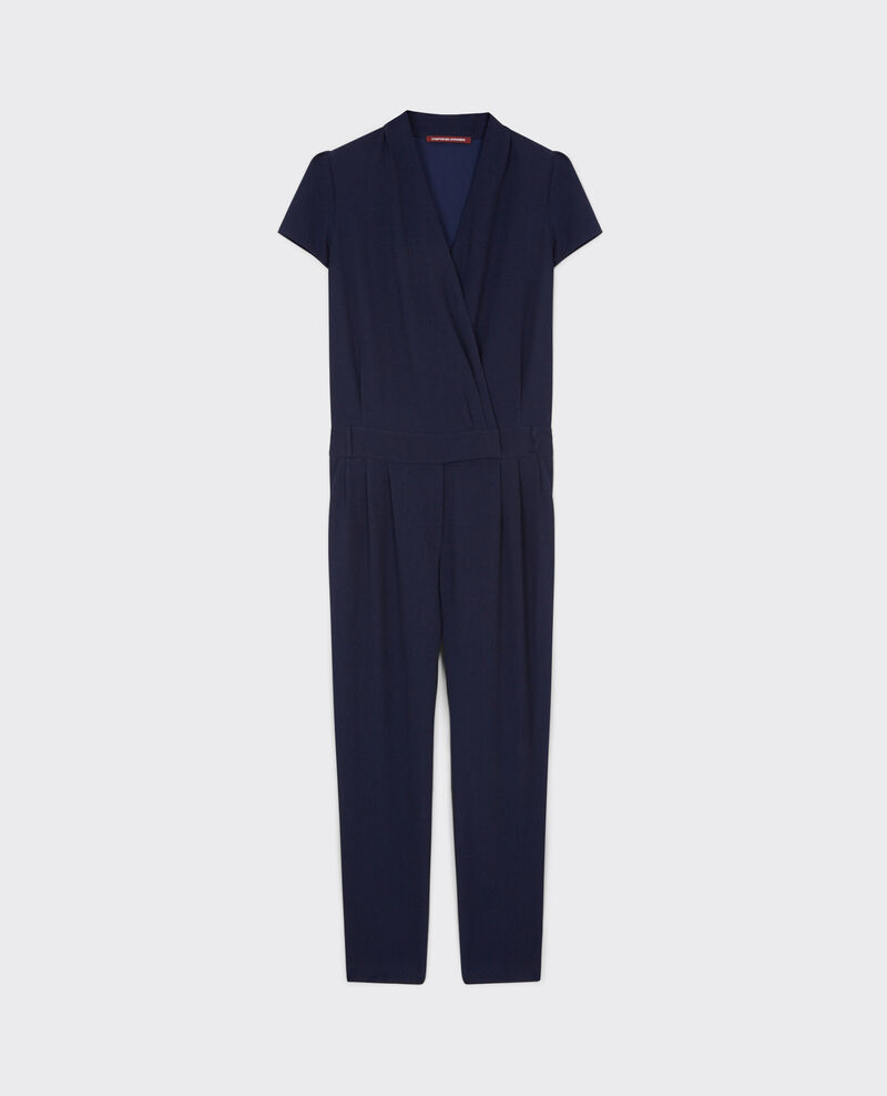 Combi-pantalon en crêpe Dark navy Cabalona