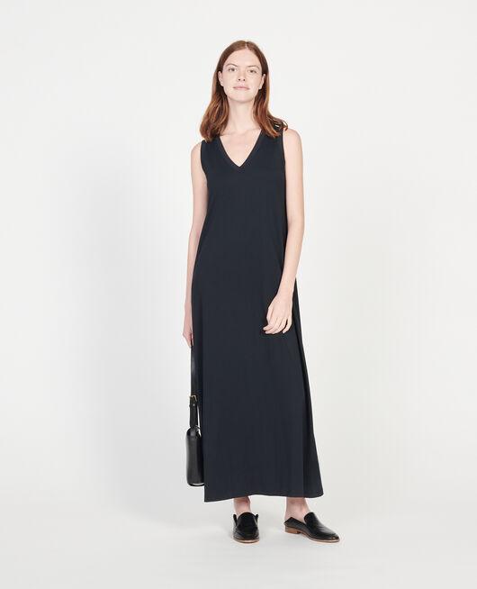 Robe longue en coton mercerisé BLACK BEAUTY