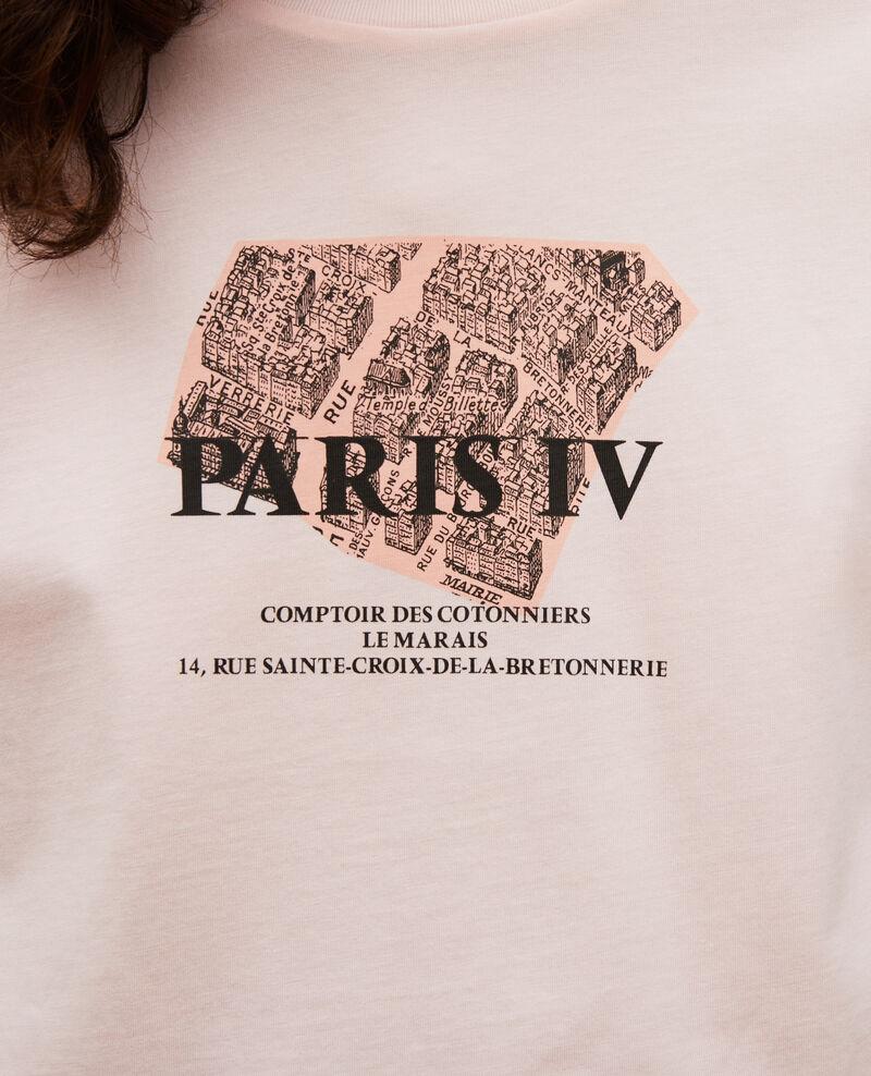 T-shirt en coton manches courtes Seashell pink Mariette