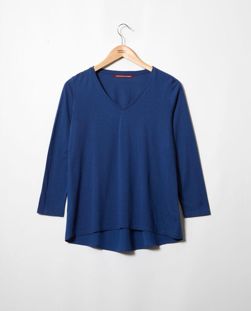 T-shirt bi-matière Dark indigo Ioko