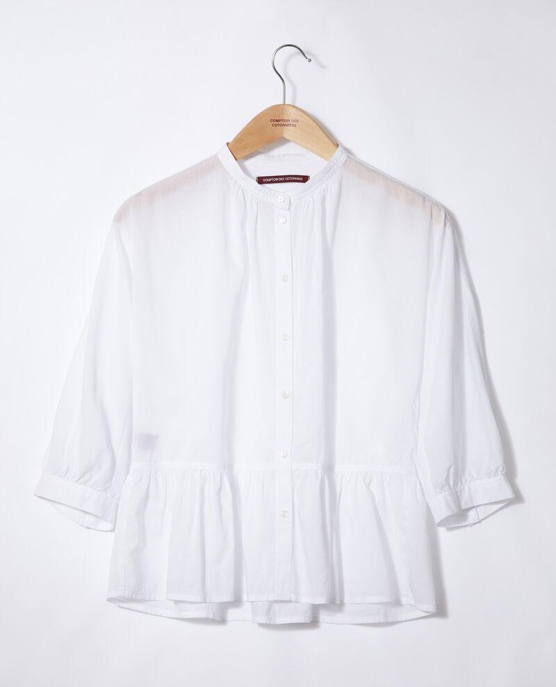 Blouse à basque Blanc Garniture