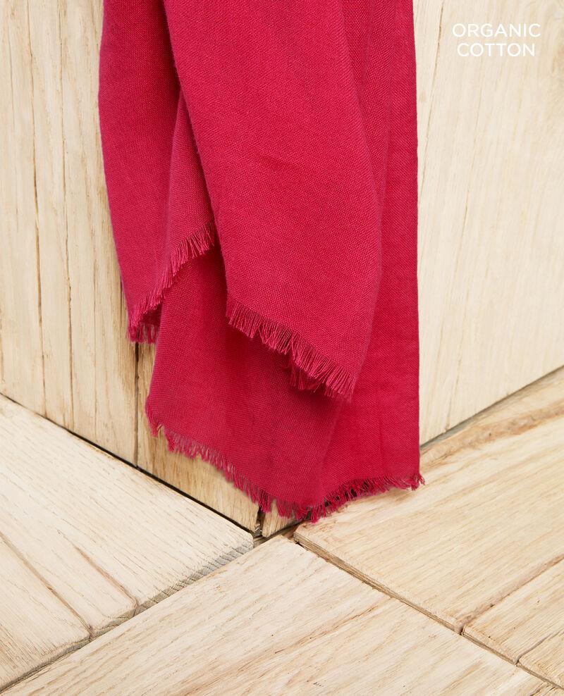 Foulard en coton organique Fushia Geste