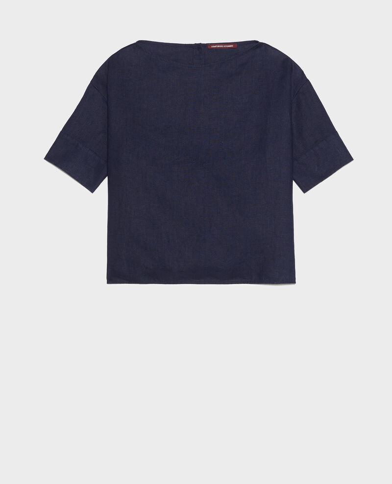 Top ample en lin Maritime blue Lordat