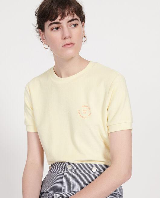 T-shirt en éponge 100% coton  TENDER YELLOW
