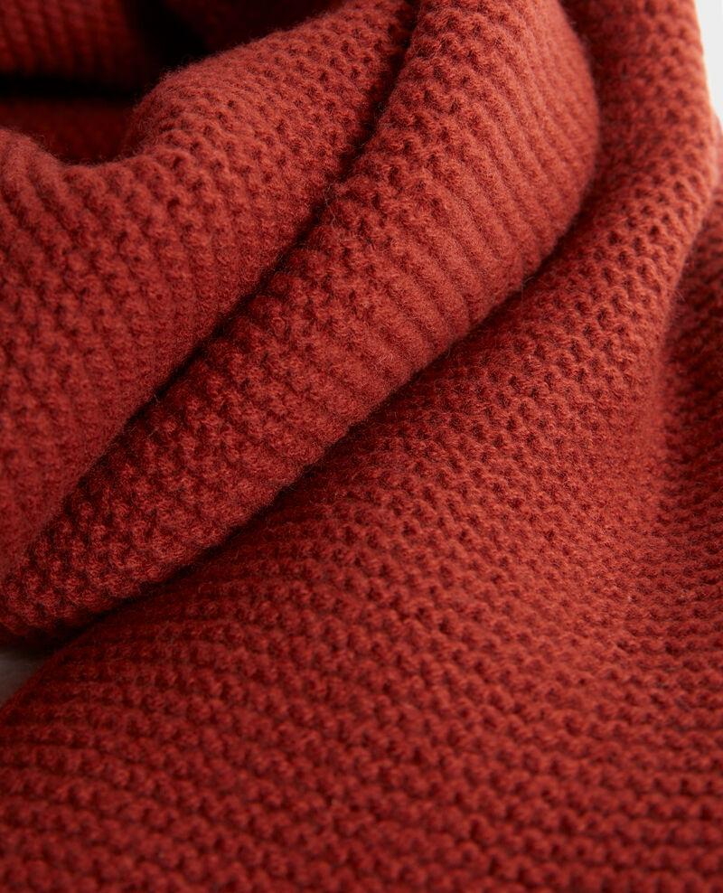 Écharpe longue en laine Brandy brown Moiron