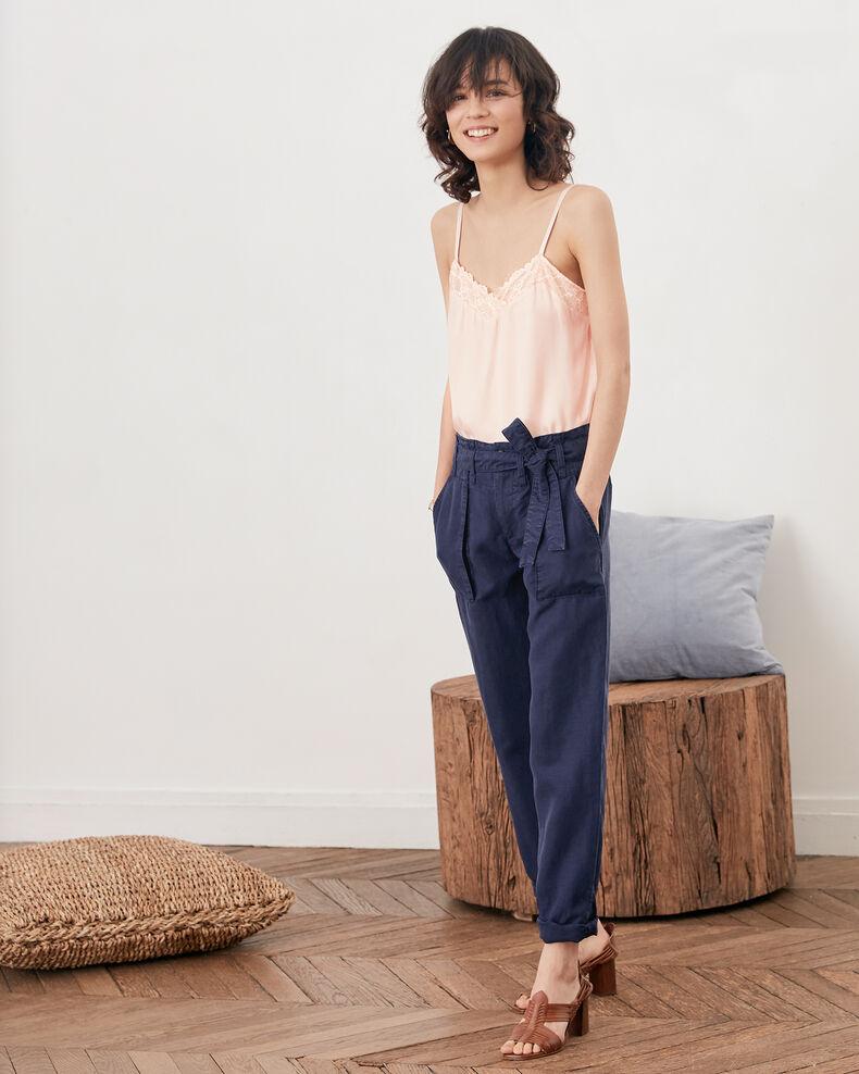 Pantalon chino ceinturé  Marine Faaron
