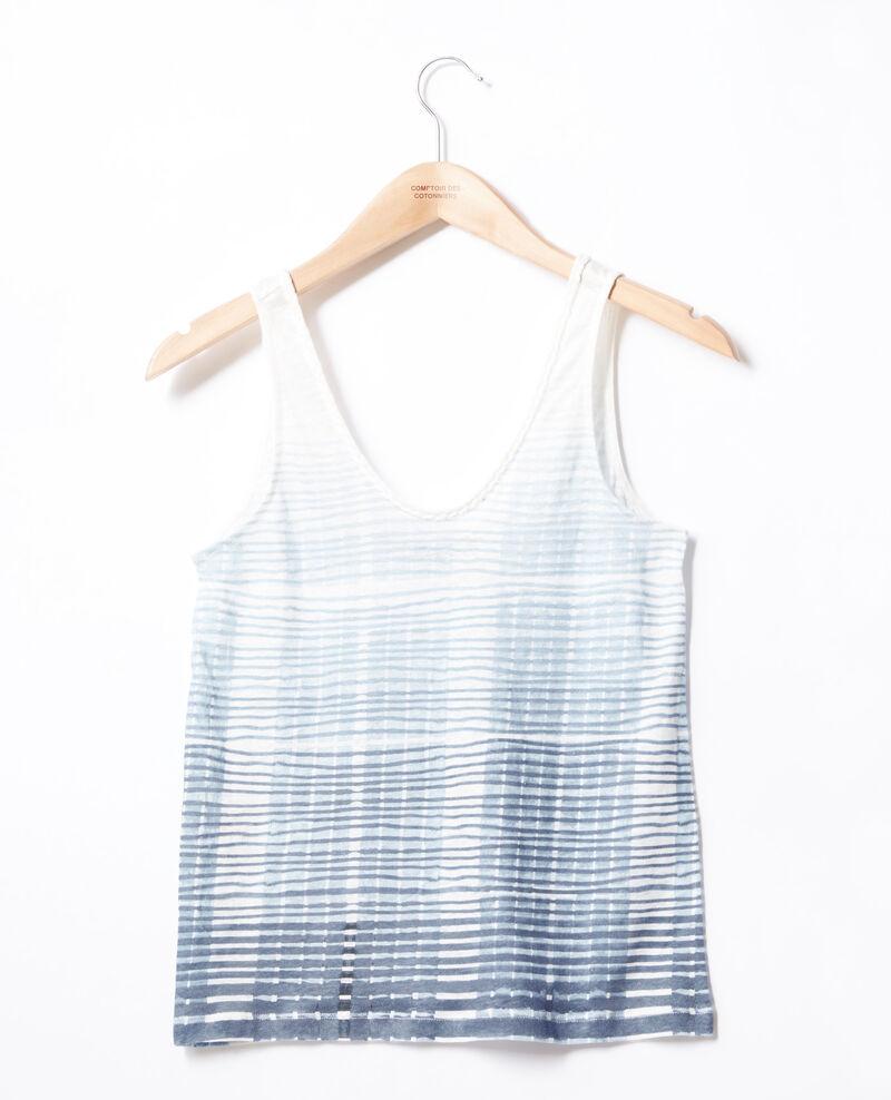 Débardeur en lin Tie&dye washed blue Fagoton