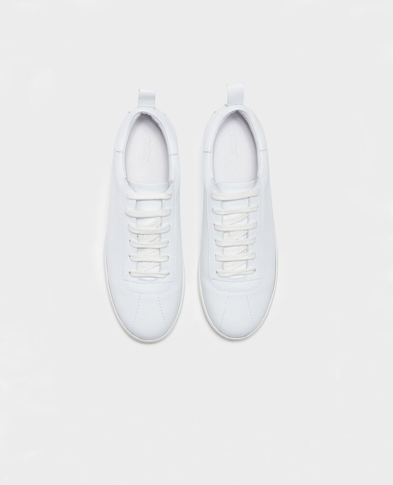 Sneaker en cuir à lacets Optical white Lead