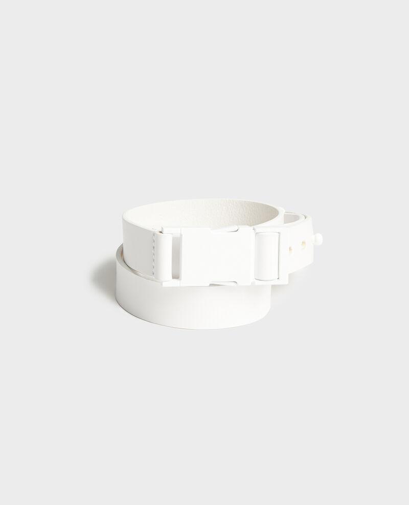 Ceinture en cuir Optical white Lequipe