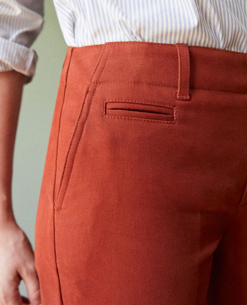 Pantalon coupe droite Brandy brown Jino
