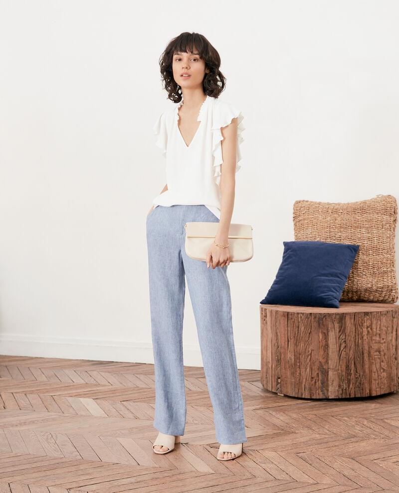 Pantalon en lin coupe ample Azur Facteur