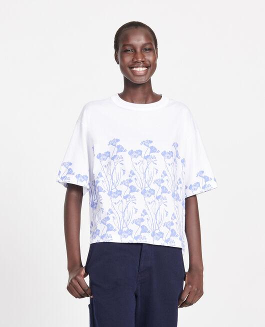 T-shirt imprimé floral en coton EMPREINTE GARDENIA JEWEL