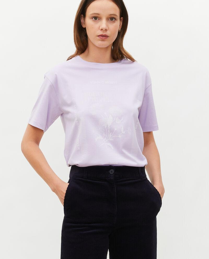T-shirt en coton manches courtes ample Pastel lilac Masny