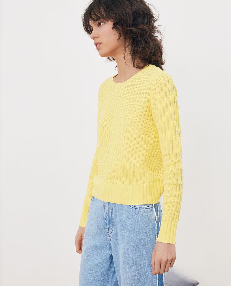 e647d4a89134 Pull court femme couleur Lemon - Funky