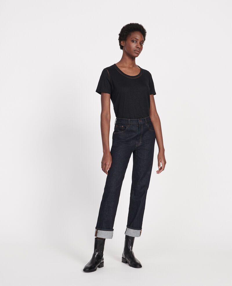 T-shirt en lin jersey  Black beauty Lye