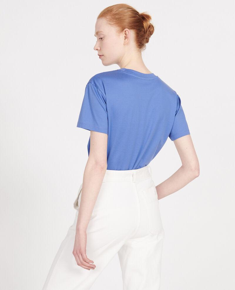 T-shirt coton manches courtes col rond Amparo blue Lirous