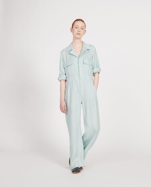 Combinaison pantalon en lin BLUE HAZE