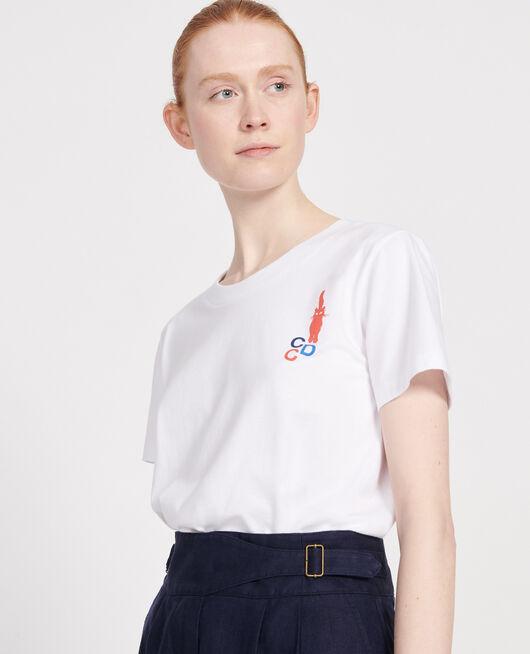 T-shirt en coton FIERY RED