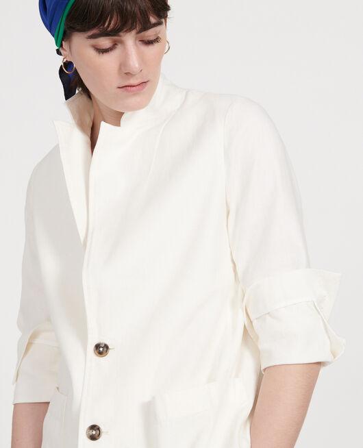 Veste de costume en twill de lin et coton mélangés GARDENIA