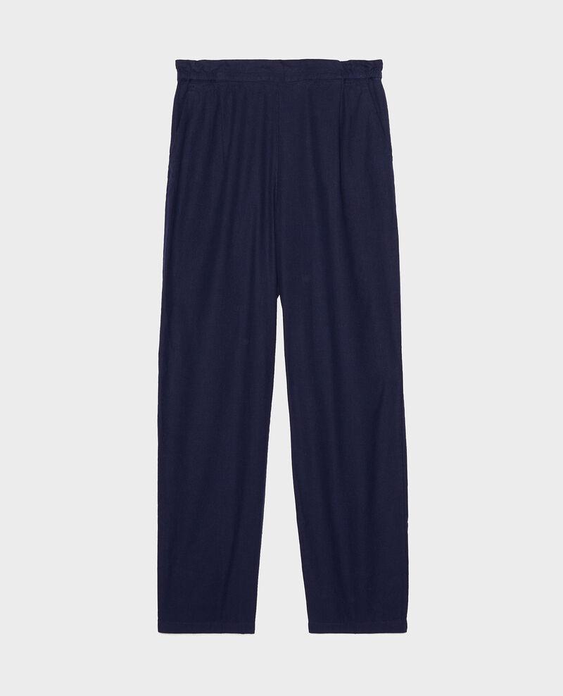 Pantalon élastiqué « easy wear »en lin Maritime blue Loranki