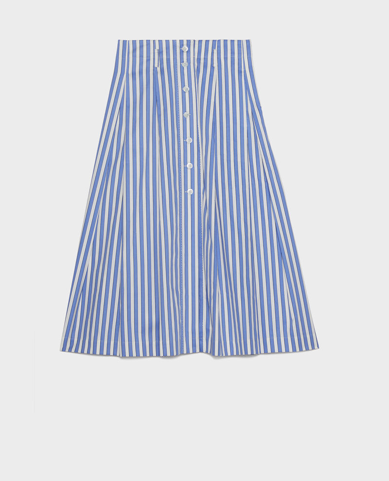 Jupe en coton Stripes light grey persian jewel Louverot