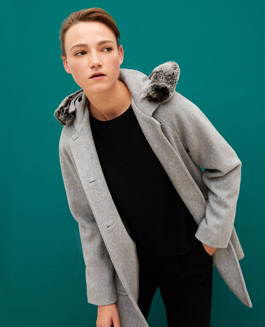 Manteau à capuche LIGHT HEATHER GREY